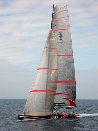 International America's Cup Class - An Alinghi IACC boat, in 2007