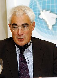 UK Chancellor of the Exchequer Alistair Darling