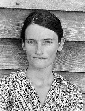 Farm Security Administration - Photo by Walker Evans of Allie Mae Burroughs, a symbol of the great depression.