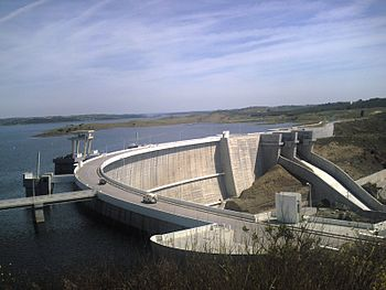 English: Alqueva dam on the Guadiana River, Po...