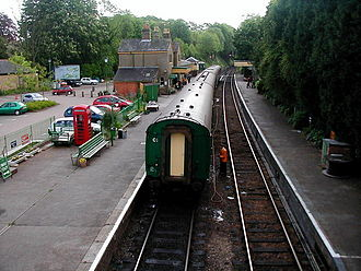 Watercress Line - A view of Alresford station from the footbridge.