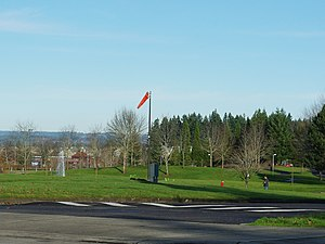 Amberglen heliport windsock - Hillsboro, Oregon.JPG