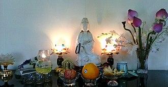 Sudhana - An Altar of Guanyin Worship.