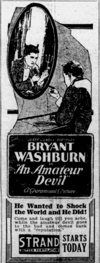 An Amateur Devil - Newspaper ad