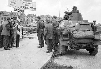 RAF Regiment - An RAF Humber LRC in Middelburg, Netherlands during Operation Infatuate, November 1944
