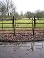 An elegant gate in Deane - geograph.org.uk - 1730776.jpg