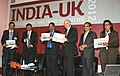 Anand Sharma and the UK Secretary of State for Business, Innovation and Skills, Dr. Vince Cable releasing a Compendium on partnerships in Skills and Education.jpg