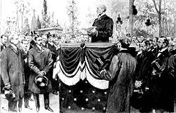 Las exequias de Zola, dondeAnatole Francerealiza su discurso en homenaje a su amigo.