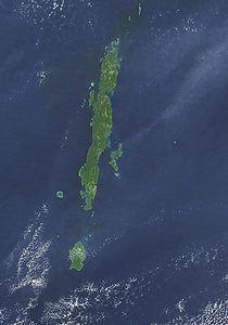 Satellitenfoto der Andamanen