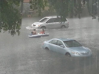 Tropical Storm Andrea (2013) - Flooding from Tropical Storm Andrea in northeastern Miami-Dade County