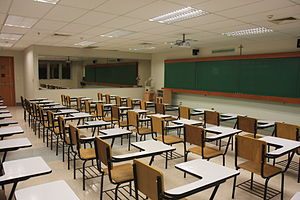 Classroom - A classroom at the De La Salle University in Manila, Philippines