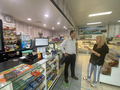 Andrew Wallace MP speaking to local business owners in Caloundra during a visit to Kerry's Corner Store, a newsagents in Caloundra.png