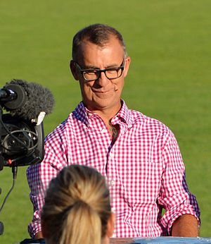 Andrew Maher - Maher hosting a Network 7 pre-game show ahead of the inaugural AFL Women's match in February 2017