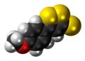 Anethole trithione 3D spacefill.png