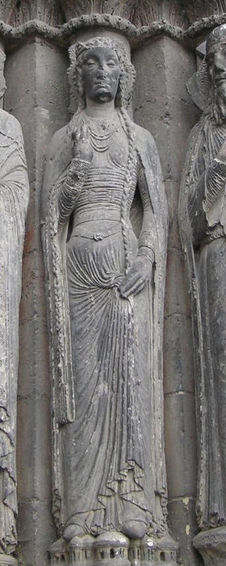 https://upload.wikimedia.org/wikipedia/commons/thumb/2/26/Angers_Cathedral_sculpture_at_west_door_TTaylor_bliaut.jpg/320px-Angers_Cathedral_sculpture_at_west_door_TTaylor_bliaut.jpg