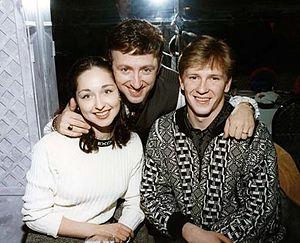 Oleg Ovsyannikov - Anjelika Krylova, Victor Kanevsky (middle) and Oleg Ovsyannikov, at Nagano Olympic Games in 1998