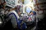 Anousheh Ansari in the Soyuz TMA-9 spacecraft.jpg
