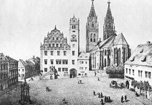 Oschatz - View in 1850