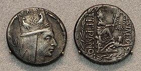 Antiochia, Tigranes II, tetradracma, 83-69 ac ca.JPG