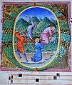 Antiphonary II, Two kneeling saints beaten to death in a landscape (ca. 1442) Biblioteca Comunale degli Intronati, Siena.jpg
