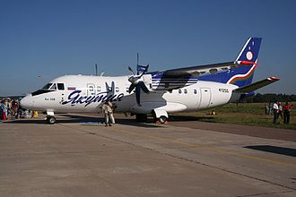 Antonov An-140 - Antonov An-140 in Yakutia Airlines livery.