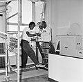 Arbeiders aan het werk in het koninklijk verblijf in Fort Amsterdam in Willemsta, Bestanddeelnr 252-2821.jpg