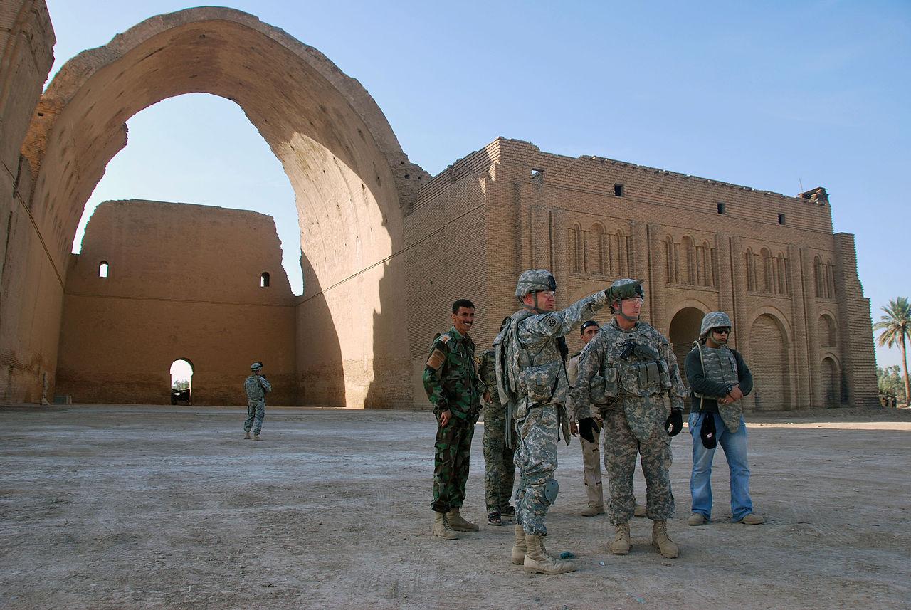 طاق کسری پس از یورش آمریکا به عراق