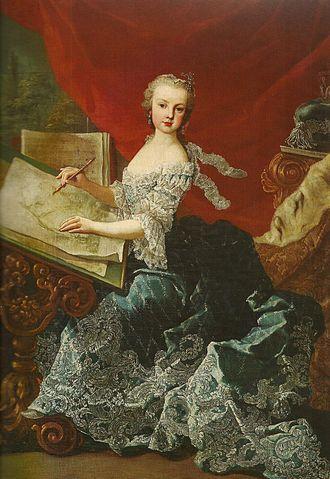 Maria Christina, Duchess of Teschen - Archduchess Maria Christina, by Martin van Meytens, 1750.