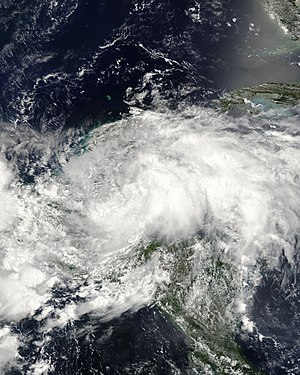 2008 Atlantic hurricane season - Image: Arthur 31 May 2008