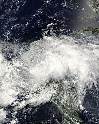 2008 Atlantic hurricane season - Image: Arthur 31 May 2008
