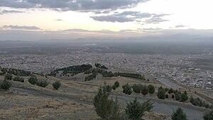 Asadabad, Iran - Asadabad city from top view