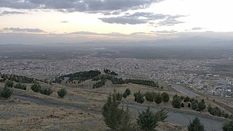 Asadabad, Iran - Asadabad city from top view