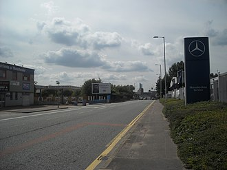 A635 road - Image: Ashton Old Road, Beswick panoramio (1)