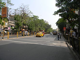 Bhowanipore - Asutosh Mukherjee road at Bhowanipore,the oldest locality in south Kolkata
