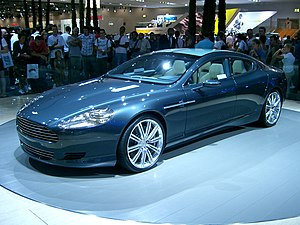Aston Martin Rapide. Free to use. Public domain.