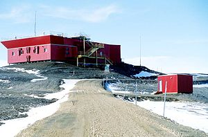 "Eureka, Nunavut - ""PEARL"", Polar Environment Atmospheric Research Laboratory (Canadian Network for Detection of Atmospheric Change)."