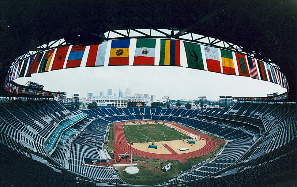 Athletics venue during the 1996 Paralympic Games
