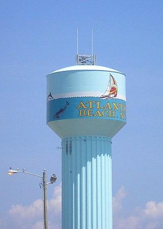 Atlantic Beach, North Carolina - The Atlantic Beach water tower