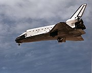 Atlantis deploys landing gear before landing on a selected runway just like a common aircraft.