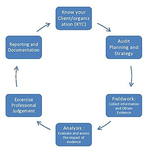 Audit - Some typical stages in the audit process