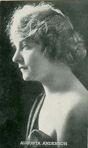 Augusta Anderson - 1917 trading card photograph