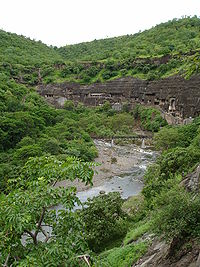 Ajanta Caves - view from ticket office
