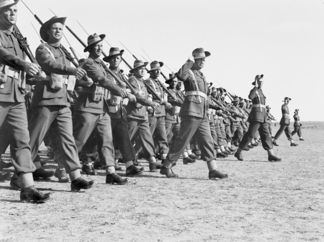Australian 9th Div at Gaza in 1942 (AWM 050124)