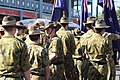 Australian soldiers stand and wait for Anzac parade 2.jpg