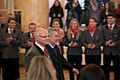 Austria Winter Olympics 2014 official farewell 01 Heinz Fischer Gerald Klug Karl Stoss.jpg