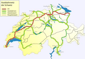 A1 motorway (Switzerland) - Image: Autobahn a 1