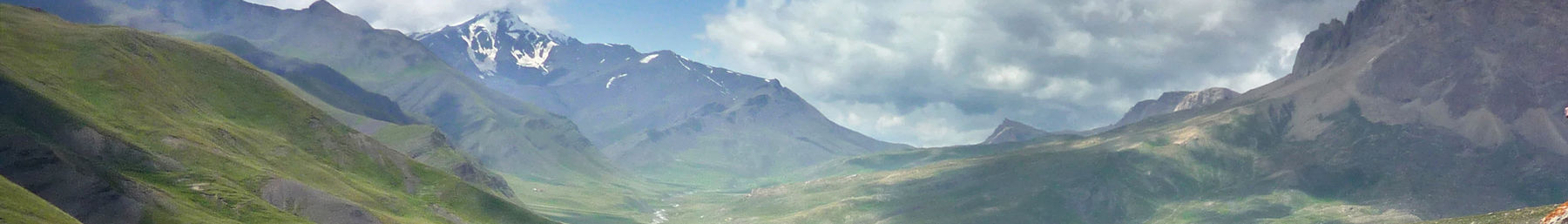 Landscape of the Khinalug valley in Azerbaijan