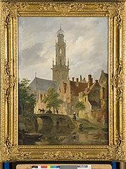Gezicht op de Bakenesserkerk te Haarlem
