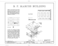 B. F. Marcos Building, 1610 East Seventh Avenue, Tampa, Hillsborough County, FL HABS FLA,29-TAMP,13- (sheet 1 of 2).png