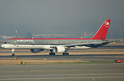 A Northwest Airlines 757-300.